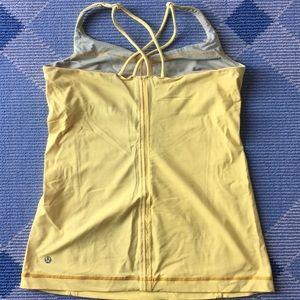 lululemon athletica Tops - Lululemon yellow cross strap tank
